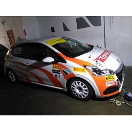 Rotulación de vehículos para competición